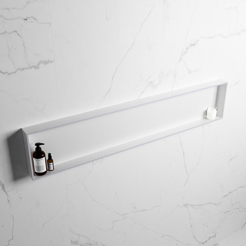 EASY Nis 149,5x29,5cm in solid surface kleur Cale | Talc. 1 vak  geschikt voor in- of opbouw