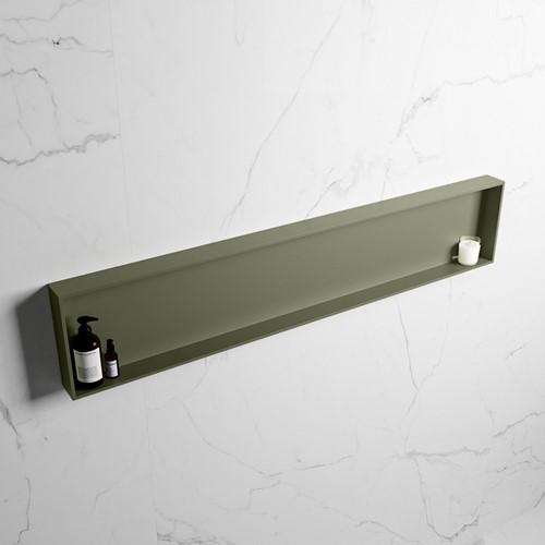 EASY Nis 149,5x29,5cm in solid surface kleur Army | Army. 1 vak  geschikt voor in- of opbouw