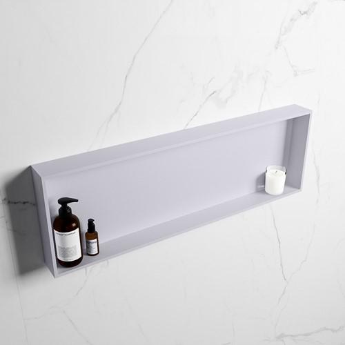 EASY Nis 89,5x29,5cm in solid surface kleur Cale | Cale. 1 vak  geschikt voor in- of opbouw