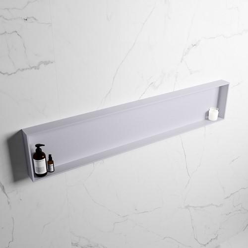 EASY Nis 149,5x29,5cm in solid surface kleur Cale | Cale. 1 vak  geschikt voor in- of opbouw
