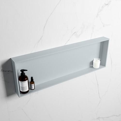 EASY Nis 89,5x29,5cm in solid surface kleur Clay | Clay. 1 vak  geschikt voor in- of opbouw
