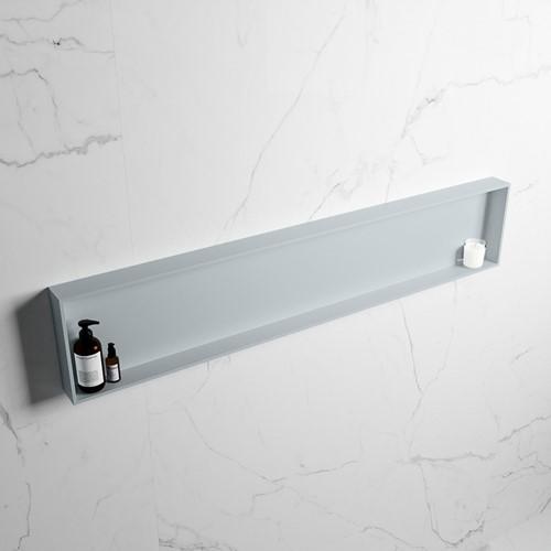 EASY Nis 149,5x29,5cm in solid surface kleur Clay | Clay. 1 vak  geschikt voor in- of opbouw