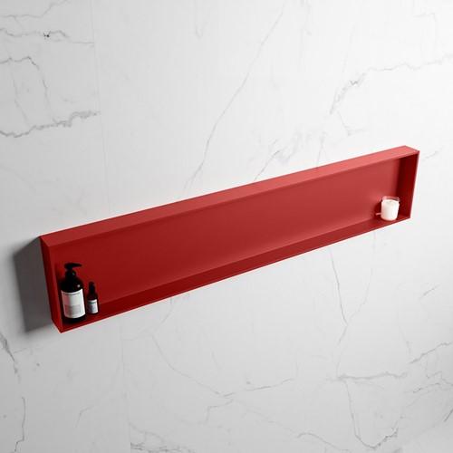 EASY Nis 149,5x29,5cm in solid surface kleur Fire | Fire. 1 vak  geschikt voor in- of opbouw
