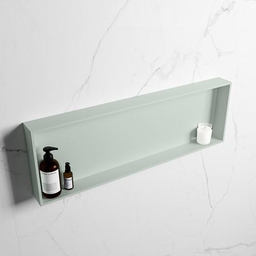 EASY Nis 89,5x29,5cm in solid surface kleur Greey   Greey. 1 vak  geschikt voor in- of opbouw
