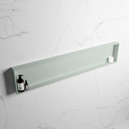 EASY Nis 149,5x29,5cm in solid surface kleur Greey | Greey. 1 vak  geschikt voor in- of opbouw