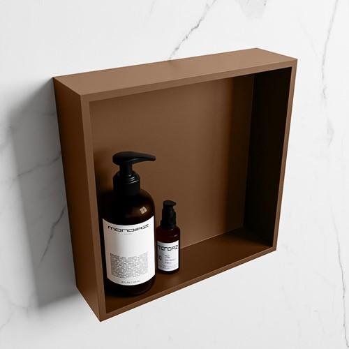 EASY Nis 29,5x29,5cm in solid surface kleur Rust | Rust. 1 vak  geschikt voor in- of opbouw