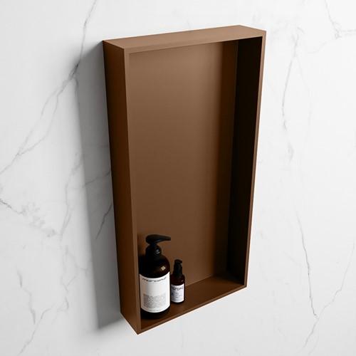 EASY Nis 59,5x29,5cm in solid surface kleur Rust   Rust. 1 vak  geschikt voor in- of opbouw