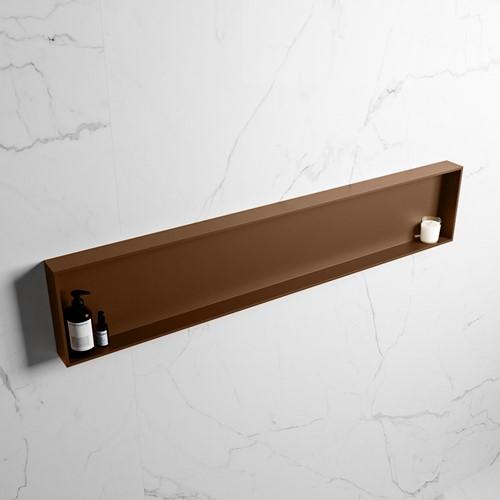 EASY Nis 149,5x29,5cm in solid surface kleur Rust   Rust. 1 vak  geschikt voor in- of opbouw