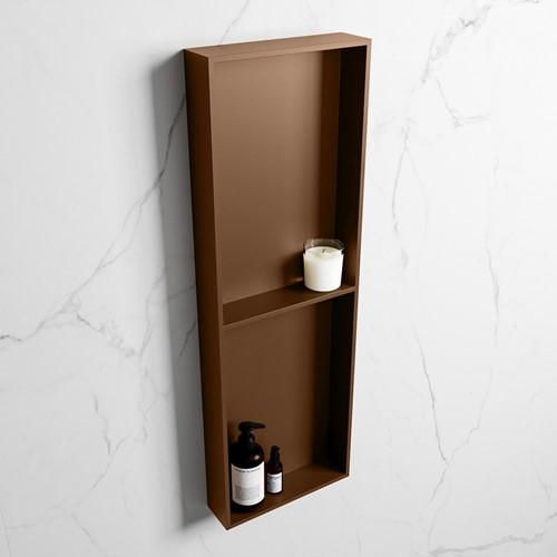 EASY Nis 149,5x29,5cm in solid surface kleur Rust | Rust. 2 vakken geschikt voor in- of opbouw