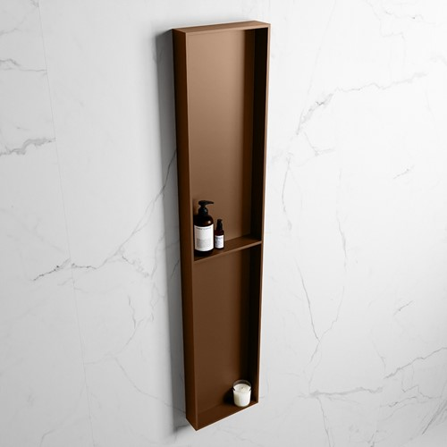 EASY Nis 89,5x29,5cm in solid surface kleur Rust | Rust. 2 vakken geschikt voor in- of opbouw