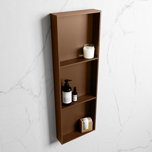 EASY Nis 89,5x29,5cm in solid surface kleur Rust | Rust. 3 vakken  geschikt voor in- of opbouw
