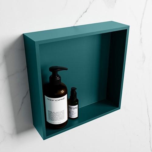 EASY Nis 29,5x29,5cm in solid surface kleur Smag | Smag. 1 vak  geschikt voor in- of opbouw