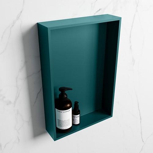 EASY Nis 44,5x29,5cm in solid surface kleur Smag   Smag. 1 vak  geschikt voor in- of opbouw