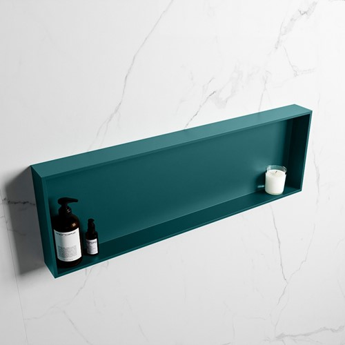 EASY Nis 89,5x29,5cm in solid surface kleur Smag | Smag. 1 vak  geschikt voor in- of opbouw