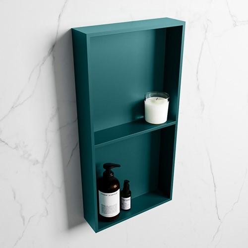 EASY Nis 59,5x29,5cm in solid surface kleur Smag   Smag. 2 vakken geschikt voor in- of opbouw
