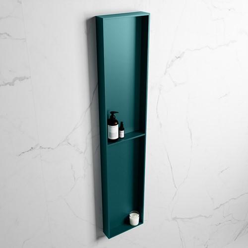 EASY Nis 89,5x29,5cm in solid surface kleur Smag | Smag. 2 vakken geschikt voor in- of opbouw