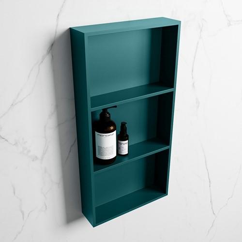 EASY Nis 59,5x29,5cm in solid surface kleur Smag   Smag. 3 vakken  geschikt voor in- of opbouw