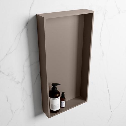 EASY Nis 59,5x29,5cm in solid surface kleur Smoke | Smoke. 1 vak  geschikt voor in- of opbouw