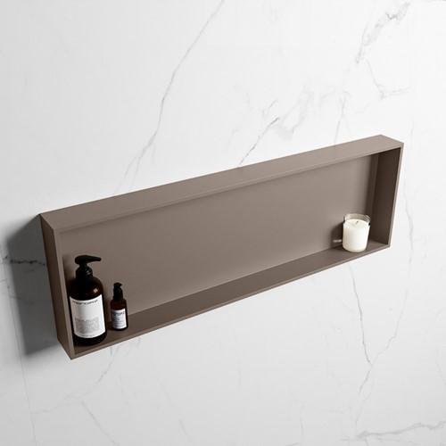 EASY Nis 89,5x29,5cm in solid surface kleur Smoke | Smoke. 1 vak  geschikt voor in- of opbouw