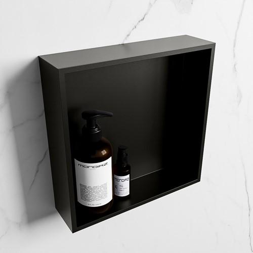 EASY Nis 29,5x29,5cm in solid surface kleur Urban | Urban. 1 vak  geschikt voor in- of opbouw