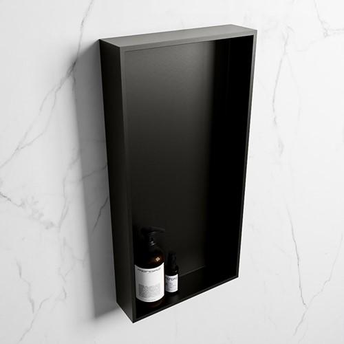 EASY Nis 59,5x29,5cm in solid surface kleur Urban   Urban. 1 vak  geschikt voor in- of opbouw
