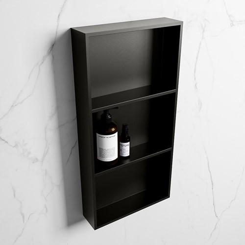 EASY Nis 59,5x29,5cm in solid surface kleur Urban | Urban. 3 vakken  geschikt voor in- of opbouw