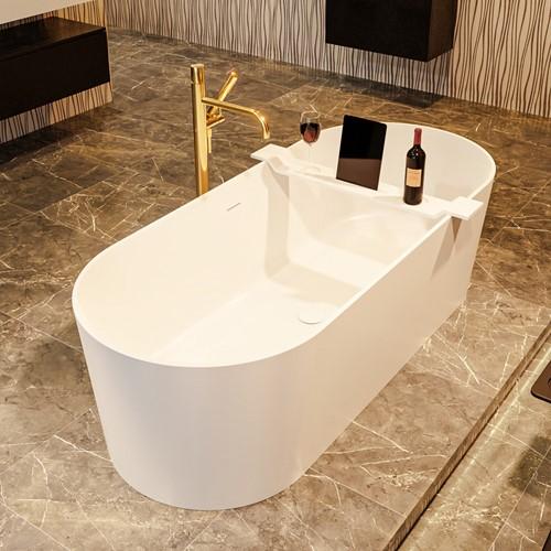 NOBLE vrijstaand bad 180x75cm kleur Talc / Talc