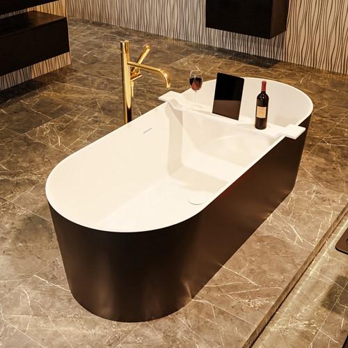 NOBLE vrijstaand bad 180x75cm kleur Urban / Talc