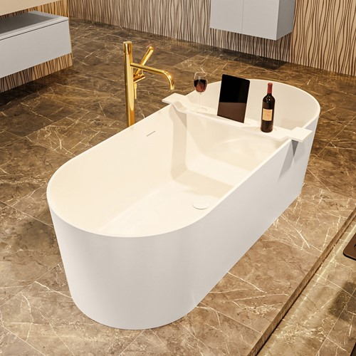 NOBLE vrijstaand bad 180x75cm kleur Linen / Talc