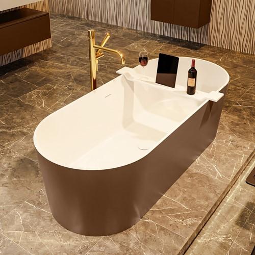NOBLE vrijstaand bad 180x75cm kleur Rust / Talc