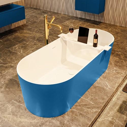 NOBLE vrijstaand bad 180x75cm kleur Jeans / Talc