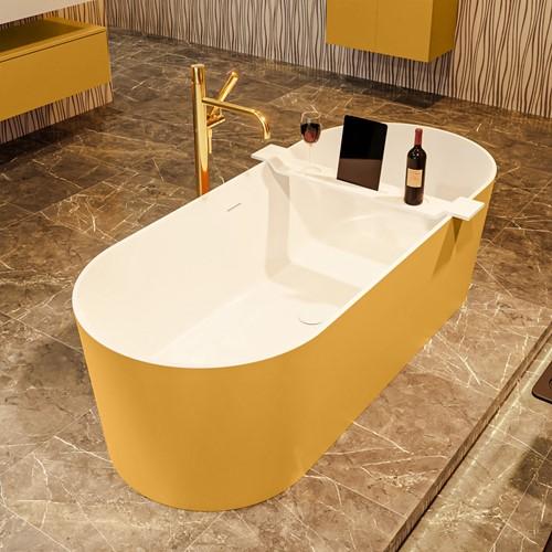 NOBLE vrijstaand bad 180x75cm kleur Ocher / Talc