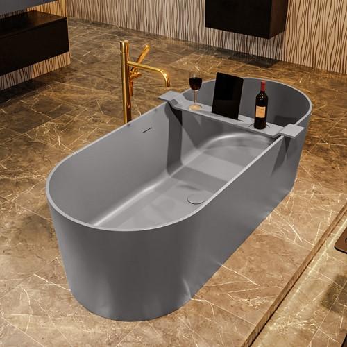 NOBLE vrijstaand bad 180x75cm kleur Dark Grey / Dark Grey