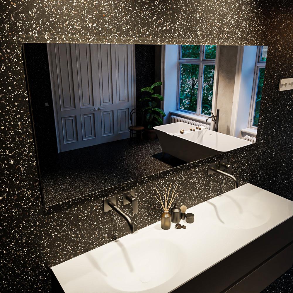 Spiegel rechthoek PARC passend bij de badkamermeubels van MONDIAZ