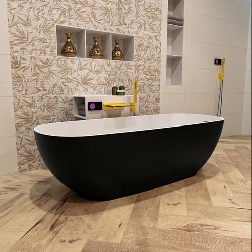 ROCK vrijstaand bad 170x70cm kleur Urban / Talc