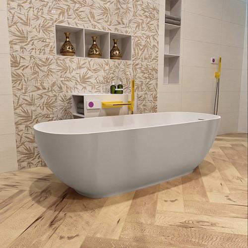 ROCK vrijstaand bad 170x70cm kleur Linen / Talc