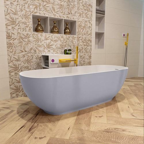 ROCK vrijstaand bad 170x70cm kleur Cale / Talc