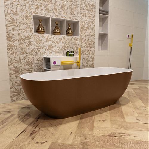 ROCK vrijstaand bad 170x70cm kleur Rust / Talc