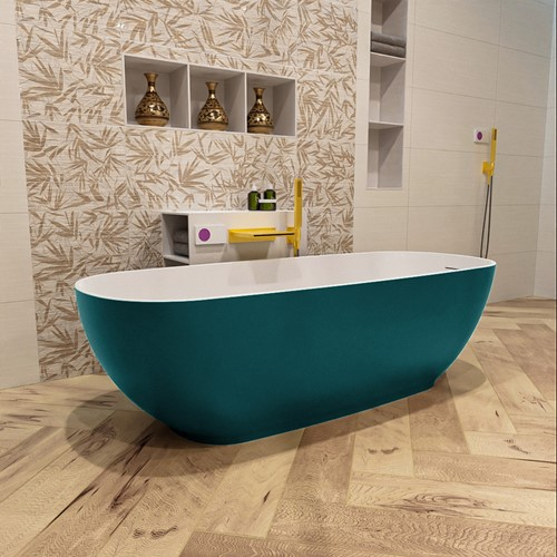 ROCK vrijstaand bad 170x70cm kleur Smag / Talc