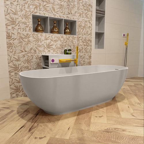 ROCK vrijstaand bad 170x70cm kleur Linen / Linen