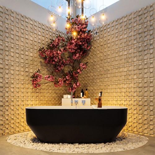 STONE vrijstaand bad 170x75cm kleur Urban / Talc