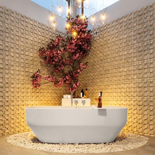 STONE vrijstaand bad 170x75cm kleur Linen / Talc