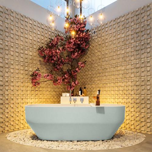 STONE vrijstaand bad 170x75cm kleur Greey / Talc