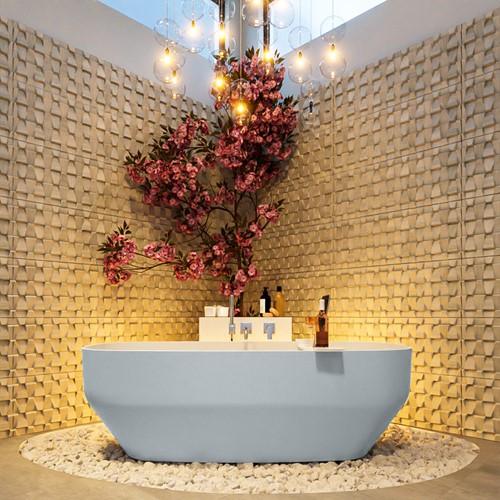 STONE vrijstaand bad 170x75cm kleur Clay / Talc