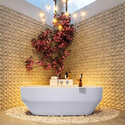 STONE vrijstaand bad 170x75cm kleur Cale / Talc