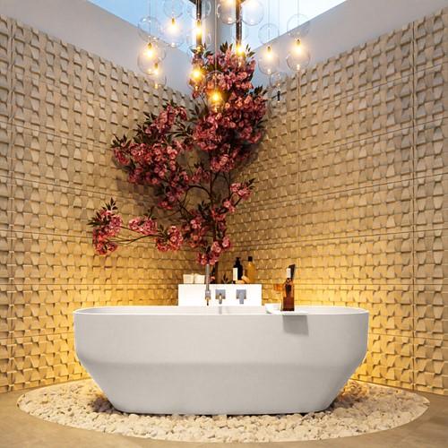 STONE vrijstaand bad 170x75cm kleur Linen / Linen