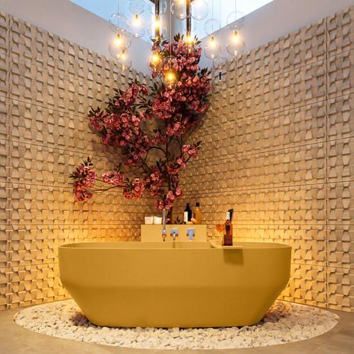 STONE vrijstaand bad 170x75cm kleur Ocher / Ocher