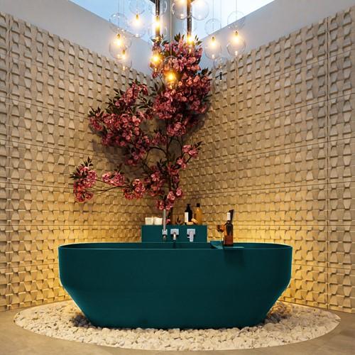 STONE vrijstaand bad 170x75cm kleur Smag / Smag