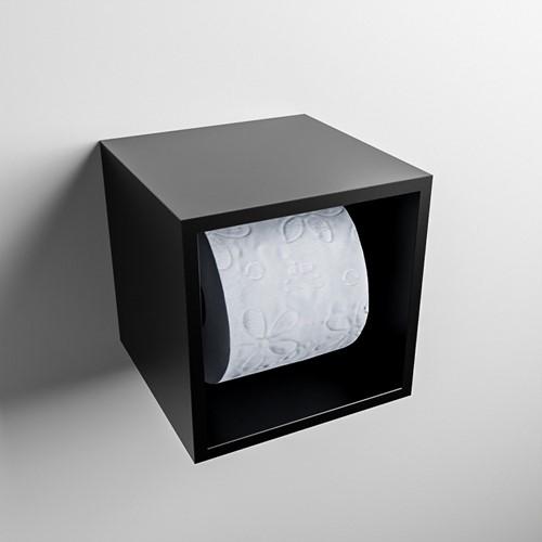 Easy Toiletrolhouder CUBE 160 solid surface  16x16cm kleur Urban. Geschikt voor op en inbouw.